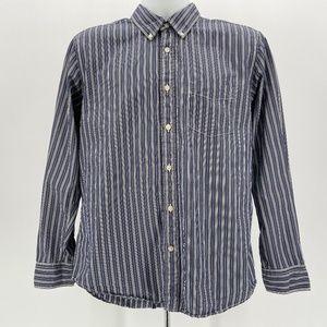 Tommy Hilfiger Trim Fit Blue & White Stripe Shirt
